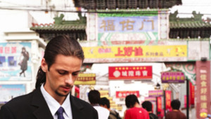 Un Européen travaillant en Chine