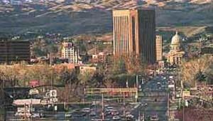 vue de Boise dans l'Idaho US