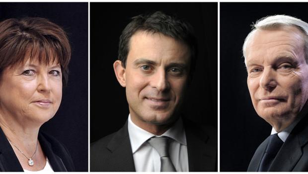 Manuel Valls, Martine Aubry et Jean-Marc Ayrault