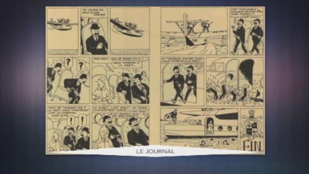 Une planche de Tintin adjugée à un million d'euros (01/05)