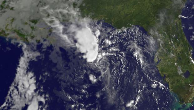 Image satellite de la tempête Bonnie (24 juillet 2010)