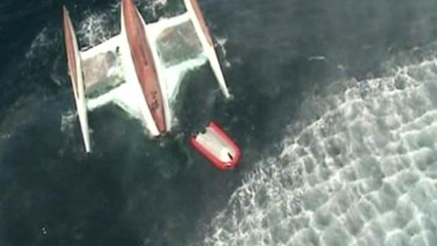 Trimaran naufragé au large des côtes portugaises