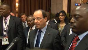 Hollande évoque les Droits de l'Homme avec Joseph Kabila