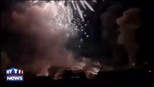 Incident lors d'un feu d'artifice aux Etats-Unis : les images