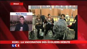 Grippe A: la vaccination des écoliers débute