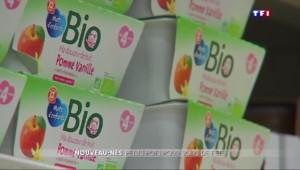 Les produits bio, de plus en plus présents dans le marché de la nourriture pour bébés