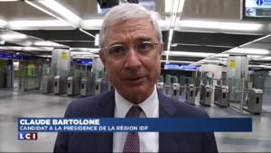 Régionales : Bartolone en visite dans les transports parisiens