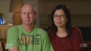 David et Wendy Farnell, les parents adoptifs de Gammy, dimanche 10 août, sur Nine Network.