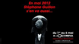 L'affiche du nouveau spectacle de Stéphane Guillon que vous ne verrez plus dans le métro