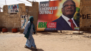Mali : affiche de campagne d'Ibrahim Boubacar Keïta