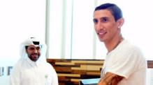 Angel Di Maria lors de sa visite médicale à l'hôpital Aspetar à Doha (Qatar) avant sa signature au PSG, le 4 août 2015.
