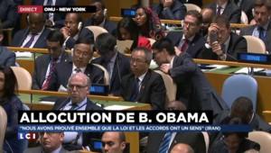"""Iran : pour Obama, """"nous avons prouvé ensemble que la loi et les accord ont un sens"""""""