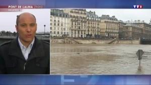 """La Seine """"continue de monter de 4 centimètres par heure"""""""
