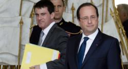 Manuel Valls et François Hollande à l'Elysée le 19 mars 2014