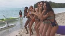 Les Miss se lâchent à Tahiti.