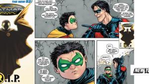Batman va perdre son fils Robin, tué au combat dans le 8e numéro de Batman Incorporated.