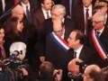 Froide salutation entre Hollande et Filippetti à Florange