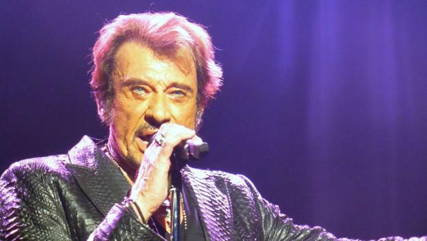 Johnny Hallyday sur scène à Londres le 15 octobre 2012