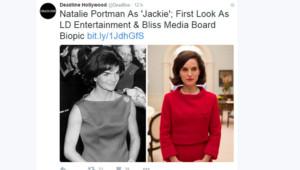 Natalie Portman en Jackie Kennedy pour le biopic de Pablo Lorrain.