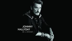 """Pochette de """"De L'amour"""", 50e album de Johnny Hallyday"""