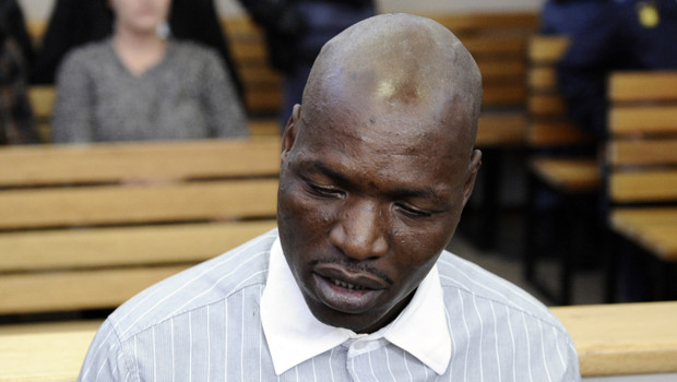 Afrique du Sud : Chris Mahlangu, reconnu coupable de l'assassin d'Eugene Terre'Blanche, lors de son procès, le 22/5/2012