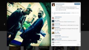 Capture du compte instagram de Ron Howard avec Omar Sy