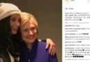 Cher avec Hillary Clinton au concert de soutien à la candidate démocrate le 6 juin 2016.