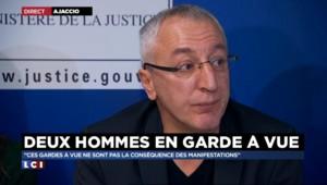 Corse : les deux gardés à vue devraient être déférés lundi ou mardi