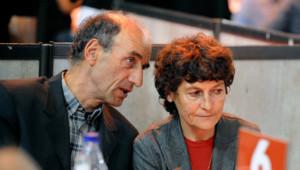 Patrice Ciprelli et la cycliste Jeannie Longo en octobre 2011