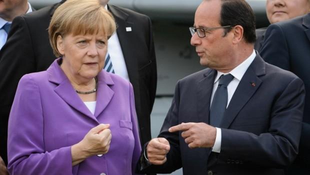 Angela Merkel et François Hollande.