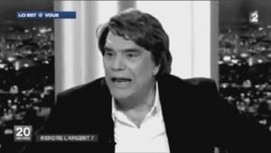 """Bernad Tapie dans un montage réalisé sur l'air de """"Je t'emmerde"""" de MC Jean Gabin."""