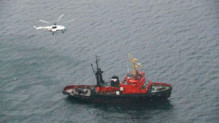 Un chalutier secouru en mer d'Okhotsk (janvier 2013)