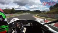 Video of the Nürburgring lap record for a Toyota electric ve