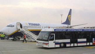 TF1/LCI : Un appareil de Ryanair à l'aéroport de Strasbourg