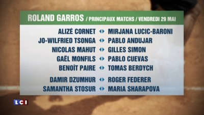 Vendredi à Roland-Garros : duel 100% français Mahut-Simon, Tsonga et Monfils sur les courts