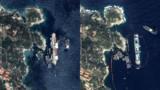 Le Costa Concordia redressé : la vue aérienne avant/après