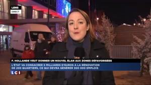 Hollande veut donner un nouvel élan aux zones défavorisées