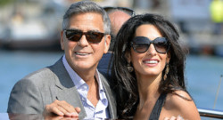 George Clooney et sa fiancée à Venise