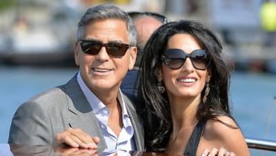 George Clooney et sa fiancée à Venise