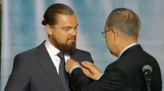 """DiCaprio devient """"messager de la paix pour le climat"""""""