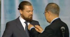 """Leonardo DiCaprio nommé """"messager de la paix pour le climat"""" par Ban Ki-moon, le patron de l'Onu, 20/9/14"""