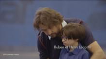 Henri Leconte dans un spot de la campagne SOS Autisme.