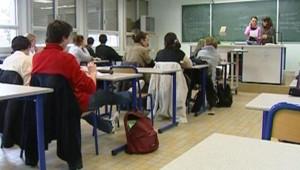 TF1/LCI : Salle de classe dans un collège