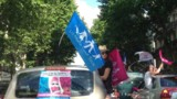 Mariage gay : défilé en voiture de la Manif pour tous à Paris