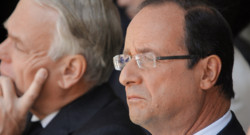 Franois Hollande, avec Jean-Marc Ayrault,  Paris le 22 juillet 2012