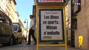 Le 13 heures du 1 juillet 2014 : A Macon, explosion de joie apr�la qualification des Bleus - 82.67083598327635