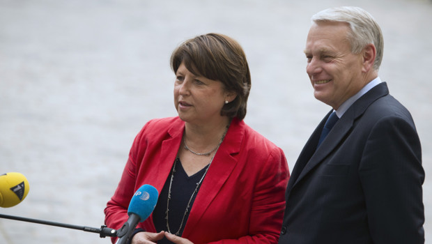 Martine Aubry et Jean-Marc Ayrault  Matignon le 18 mai 2012.