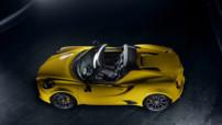 Alfa Romeo 4C Spider, version découvrable présentée au Salon de Detroit en janvier 2015 avec le moteur 1,75 litre 240 ch.