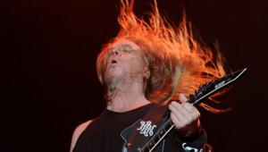 Le guitariste de Slayer Jeff Hanneman.