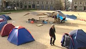 TF1/LCI Les étudiants devant le Parlement à Rennes